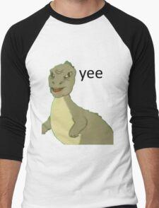 Yee [dinosaur maym :^)] (version 1, video quality, black text) Men's Baseball ¾ T-Shirt