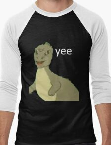 Yee [dinosaur maym :^)] (version 1, video quality, white text) Men's Baseball ¾ T-Shirt