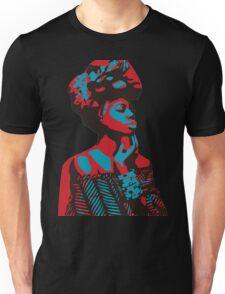 African woman red & blue Unisex T-Shirt
