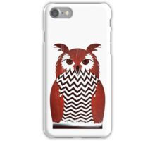 Owl Black Lodge Red White Twin Peaks Inspired Red Room iPhone Case/Skin