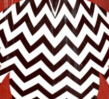 Owl Black Lodge Red White Twin Peaks Inspired Red Room Sticker