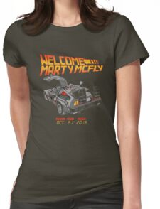 Delorean Womens Fitted T-Shirt