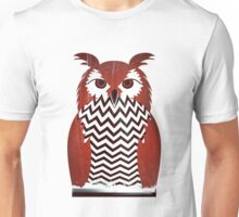Owl Black Lodge Red White Twin Peaks Inspired Red Room Unisex T-Shirt