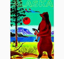 """ALASKA"" Vintage Travel and Tourism Print Unisex T-Shirt"