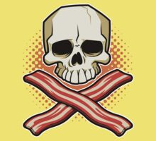Skull and Cross Bacon Kids Clothes