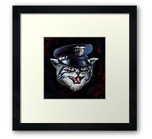 Police Cat Framed Print