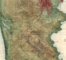 Vintage Map of San Francisco California (1869) Sticker