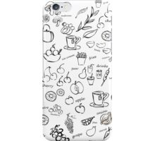 foodie set on white background. vector illustration. iPhone Case/Skin