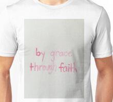By Grace Through Faith Sticker Unisex T-Shirt