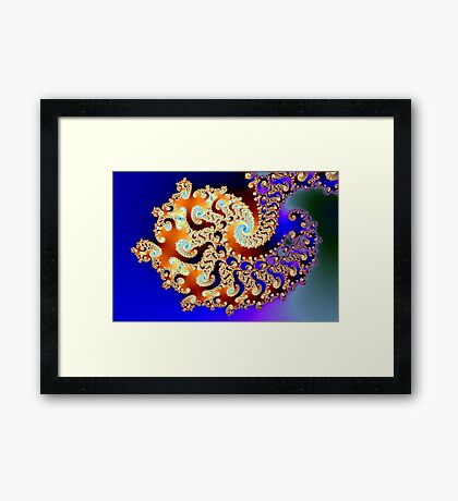 Curly Complexity Framed Print