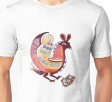 Folksy Chicken has Eggs Unisex T-Shirt