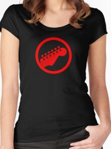 Red guitar Women's Fitted Scoop T-Shirt