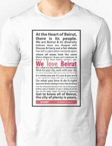 Beirut Manifesto - We Love Beirut Unisex T-Shirt