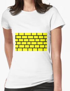 Yellow Brick - Black Lines Womens Fitted T-Shirt