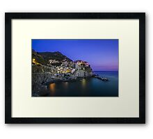 Manarola at Sunset, Cinque Terre, Italy Framed Print