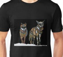 Two Wolves in the Snow Unisex T-Shirt