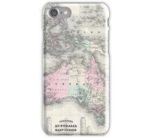Vintage Australia & Southeastern Asia Map (1870) iPhone Case/Skin