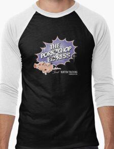 Pork Chop Express - Distressed Light Blueberry Variant Men's Baseball ¾ T-Shirt