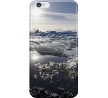 Melting ice in Jokulsarlon glacier lagoon, Iceland iPhone Case/Skin