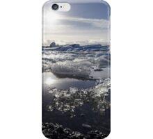 Melting ice in Jokulsarlon glacier lagoon, Iceland iPhone Case/Skin