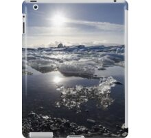 Melting ice in Jokulsarlon glacier lagoon, Iceland iPad Case/Skin