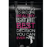 Deciding To Become Healthy Photographic Print