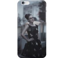 pin up girl at the station iPhone Case/Skin