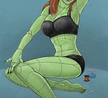 Stitched - Retro Monster Pinup by Joey Gates