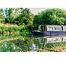 Narrowboat on the River Photographic Print