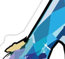 Glass Slipper Cinderella Fairy Tale shoe Sticker