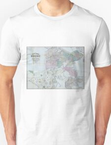 Vintage Map of Boston Massachusetts (1870) Unisex T-Shirt