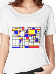 LARGE MONDRIAN Women's Relaxed Fit T-Shirt
