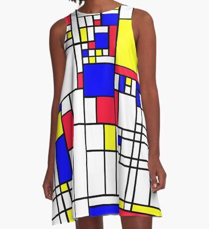 LARGE MONDRIAN A-Line Dress