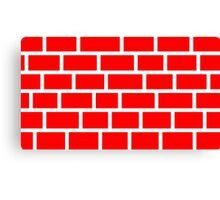 Red Brick - White Lines Canvas Print
