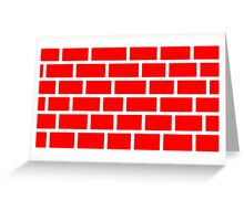 Red Brick - White Lines Greeting Card