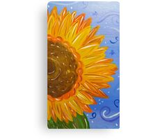 Sunflower Painted Half Canvas Print