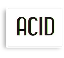 Acid Logotype Canvas Print