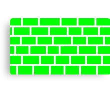 Green Brick - White Lines Canvas Print