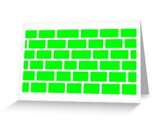 Green Brick - White Lines Greeting Card