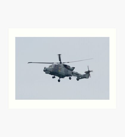 Royal Navy Lynx Helicopter Art Print