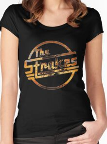 Strokes logo Tropical Women's Fitted Scoop T-Shirt