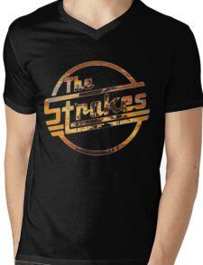 Strokes logo Tropical Mens V-Neck T-Shirt