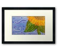 Sunflower Painted Quarter Framed Print