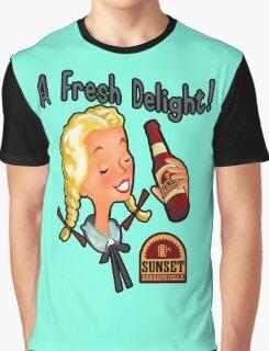 A Fresh Delight! Sunset Sarsaparilla Graphic T-Shirt