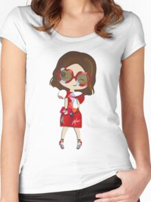 She's got the style Women's Fitted Scoop T-Shirt