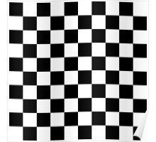 Black checkerboard Poster