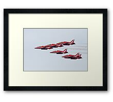 RAF Red Arrows Aerobatic Display Team Framed Print