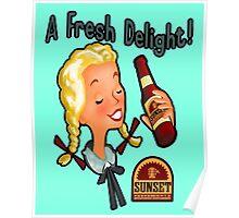 A Fresh Delight! Sunset Sarsaparilla Poster