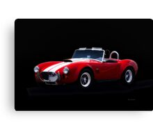 1966 Shelby Cobra 'Little Red' Roadster Canvas Print