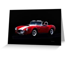 1966 Shelby Cobra 'Little Red' Roadster Greeting Card